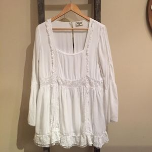 SHOW ME YOUR MUMU White Sicily Mini Dress